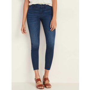 Old Navy Frayed-Hem Rockstar Skinny Ankle Jeans